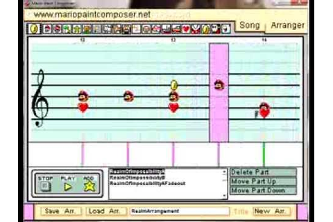 Realm of Impossibility music (C64 1984) on Mario Paint ...