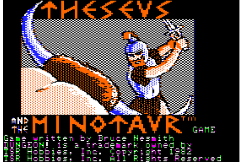 Theseus and the Minotaur (1982) by TSR Apple II E game