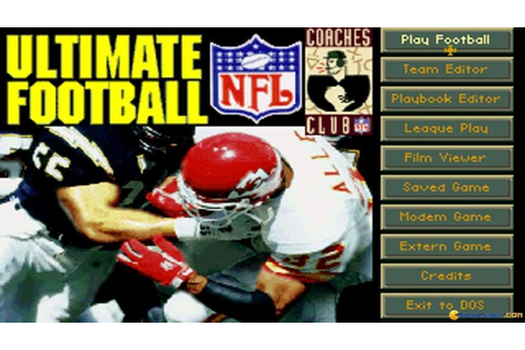 Ultimate Football '95 gameplay (PC Game, 1995) - YouTube