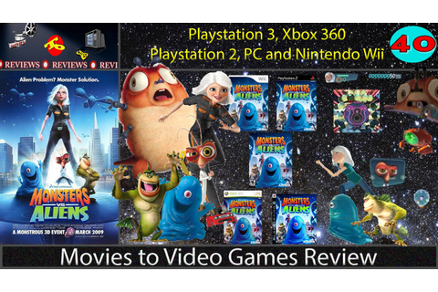 Movies to Video Games Review - Monsters vs. Aliens (PS3 ...