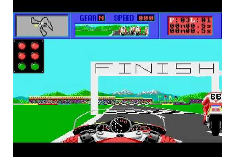The CYCLES motorcycle GP racing game by Accolade on Amiga ...