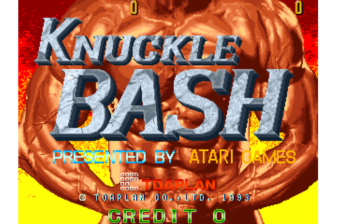 VGJUNK: KNUCKLE BASH (ARCADE)