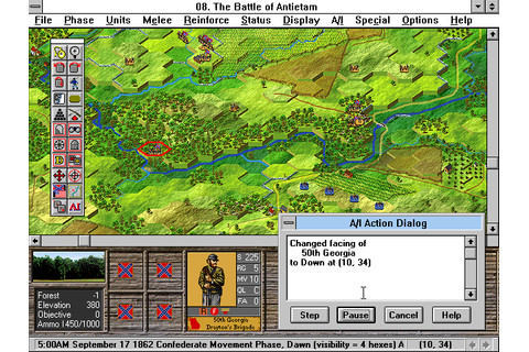 Скриншоты Battleground 5: Antietam на Old-Games.RU