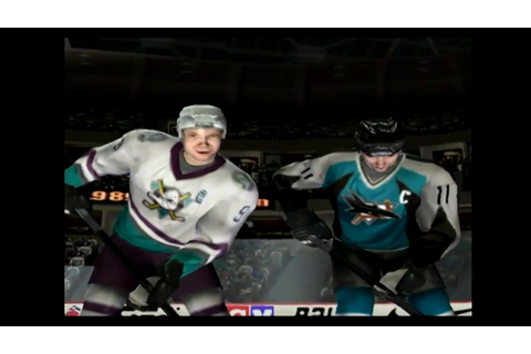 NHL FACEOFF 2003/ MIGHTY DUCKS VS SHARKS [PS2] [HD] - YouTube
