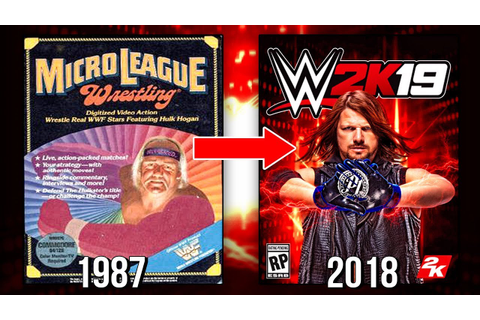 The Evolution Of WWE Games Covers! ( MicroLeague Wrestling ...