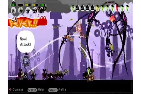 Patapon 2 psp all boss characters in the game my gameplay ...