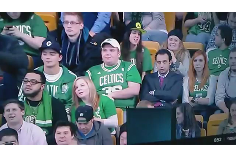 Here's A Lady Pantomiming A Double Blowjob At The Celtics ...