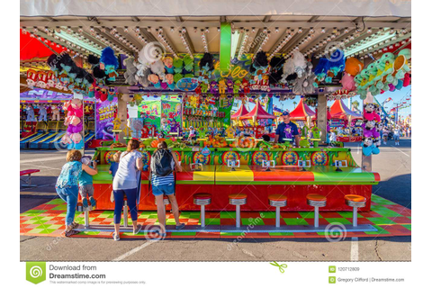 Water Race Game editorial stock image. Image of carny ...