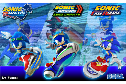 Sonic Riders Trilogy | Sonic Free Riders | Sonic art ...