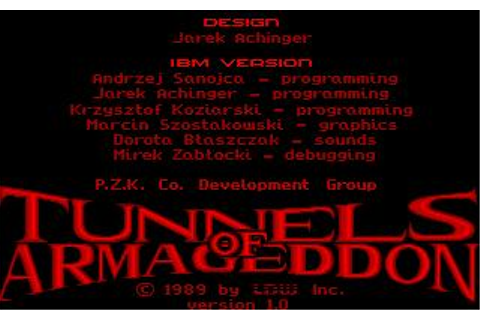 Tunnels of Armageddon Download (1989 Arcade action Game)