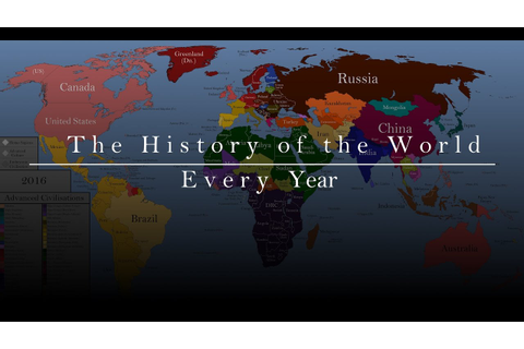 The History of the World: Every Year - YouTube