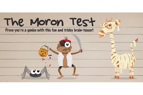 Play The Moron Test Game Online - The Moron Test