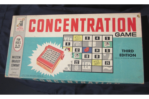 Vintage Concentration Board Game thrid edition by Milton