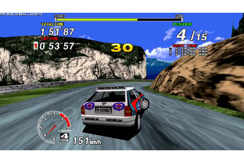 ARCADE Sega Rally Championship (1994) - YouTube