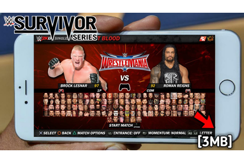 WWE SURVIVOR SERIES 3MB GAME IN ANY ANDROID DEVICE - YouTube