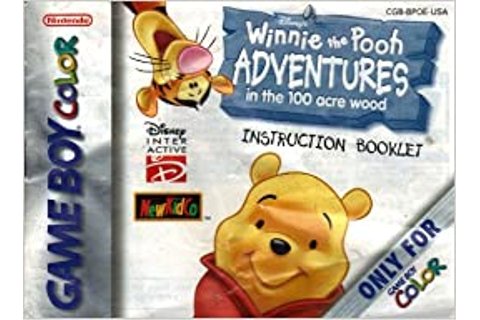 Winnie the Pooh - Adventures in the 100 Acre Wood GBC ...