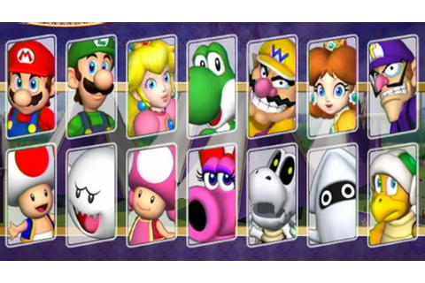 Mario Party 8 - All Characters - YouTube