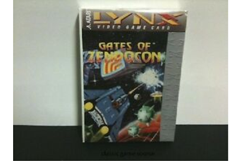 NEW Factory Sealed GATES OF ZENDOCON Game for Atari Lynx ...
