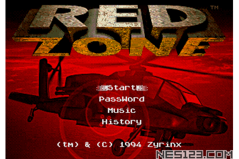 Red Zone SEGA Roms Games online