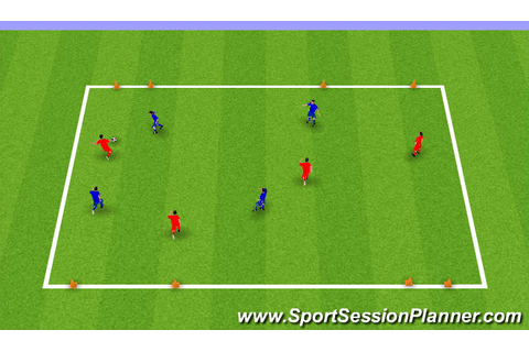 Football/Soccer: 4 Goal Game with Wider Goals (Tactical ...