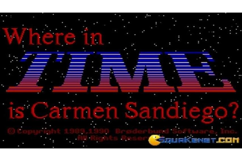 Where in Time is Carmen Sandiego? gameplay (PC Game, 1989 ...