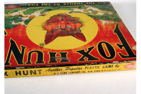 Vintage Fox Hunt Game : EBTH