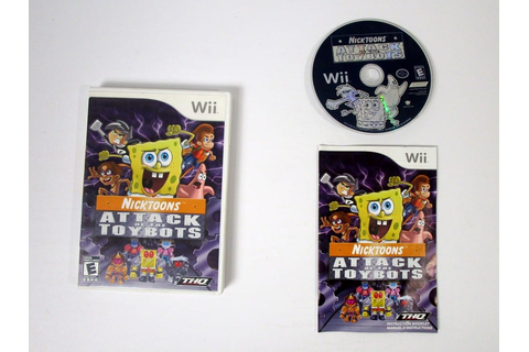 Nicktoons Attack of the Toybots game for Wii (Complete ...