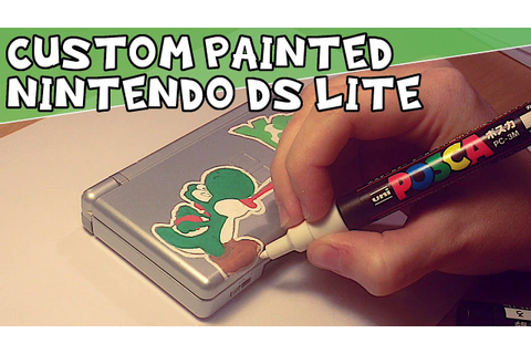 Custom Painted Nintendo DS Lite - Yoshi - YouTube