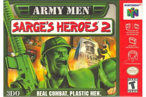 Army Men Sarge's Heroes 2 Green Nintendo 64 Game