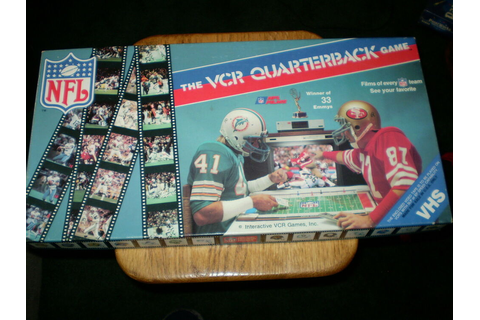 Vintage - NFL Licensed VCR Quarterback Football Game ...
