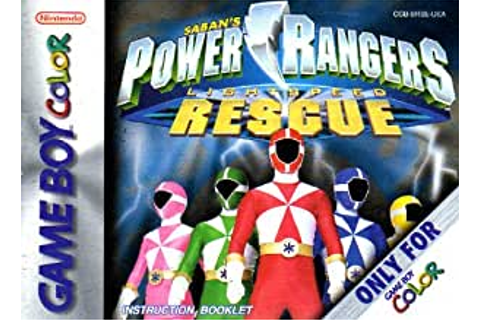 Amazon.com : Power Rangers - Lightspeed Rescue GBC ...