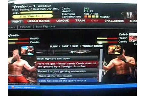 MMA pro fighter game in Facebook part 1 - YouTube