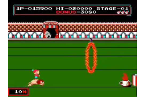 Circus Charlie Secret Coins at Level 1 (Nintendo NES ...