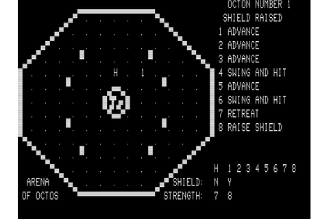 Arena of Octos Screenshots for TRS-80 - MobyGames