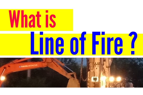 Line of Fire in hindi / What is Line of Fire in safety ...