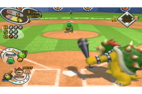 Mario Superstar Baseball Gameplay: Donkey Kong Vs. Wario ...