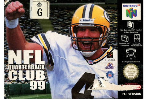 NFL Quarterback Club 99 (1998) Nintendo 64 box cover art ...