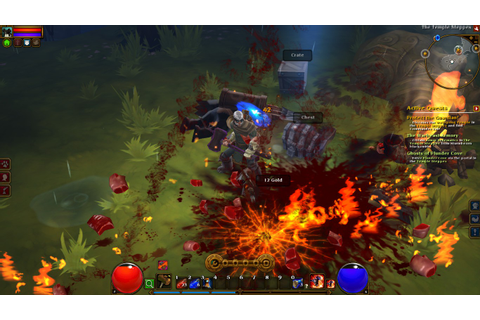 torchlight 2 gameplay shot - Just Push Start