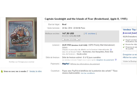 Captain Goodnight … / Broderbund sur Apple II, vendu 167 ...