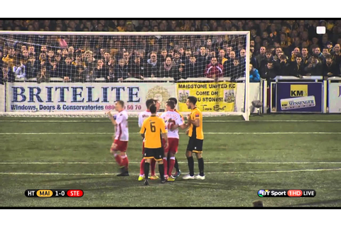 Maidstone United vs Stevenage FULL GAME 11.11.14 - YouTube