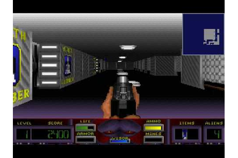 DOS Game: Corridor 7 - Alien Invasion - YouTube