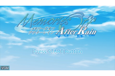 Memories Off - After Rain for Sony PSP - The Video Games ...