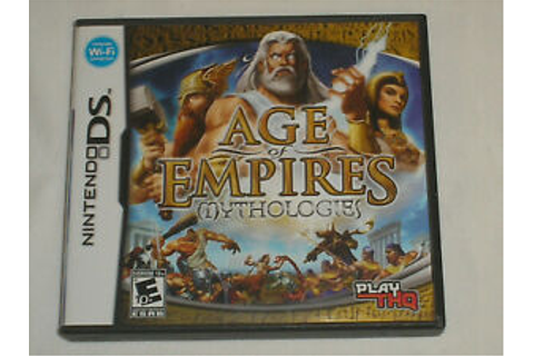DS NINTENDO GAME AGE OF EMPIRES MYTHOLOGIES CASE BOOK ...