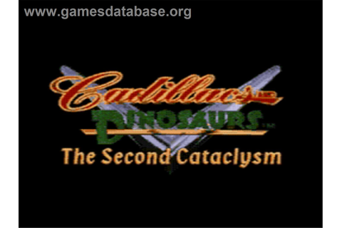 Cadillacs and Dinosaurs: The Second Cataclysm - Sega CD ...