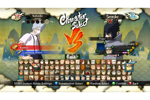 naruto ultimate ninja storm 3 full burst all character ...