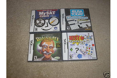 New Lot 4 Nintendo DS Games Best of Tests USA Today SAT | eBay