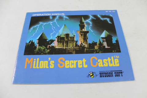 Manual - Milon's Secret Castle - Nes Nintendo