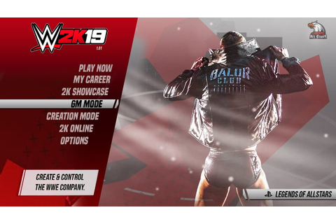 WWE 2K19 MAIN MENU & GAME MODES | PS4/XB1 | Concept/Notion ...