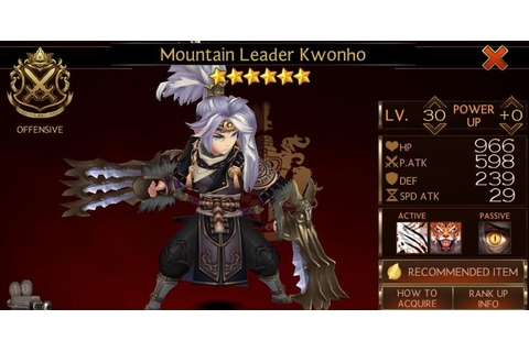 Seven Knights Hero Guide : KwonHo - Anorend Company : Games