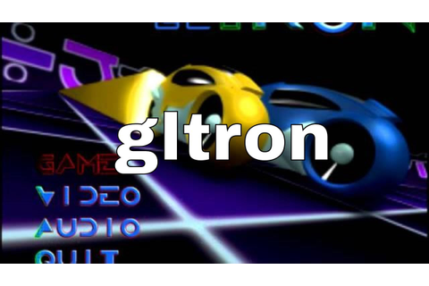 gltron - portable free game to download - YouTube